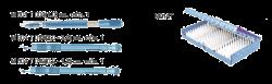 М 1008 - Набор алмазных ножей с постоянным углом наклона лезвия для формирования тоннельных разрезов